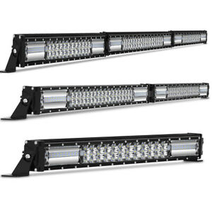 Single Row Led Work Light Bar 10 12 22 32 42 52 Inch Combo Beam Fog Light