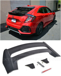 For 16 up Honda Civic Hatchback Mugen Style Rear Roof Wing Spoiler