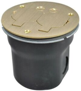 Round Floor Box Outlet 2 outlet Electrical Metallic Solid Brass Cover