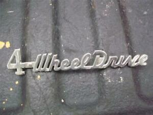 Jeep Jeepster Willys 4 Wheel Drive Emblem 1940s 1950s 1960s R341