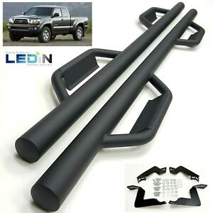 Side Step Nerf Bar For 05 17 Toyota Tacoma Access Cab Short Bed 3 Drop Step