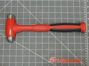 New Snap On Tools 16oz Ball Peen Dead Blow Hammer Red Soft Grip Front End Joints