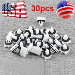 30pcs Rocker Panel Deck Lid Moulding Clips Retainer For Ford Fusion Mkz 2013