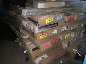Lot Sale Suspended Ceiling T s Grid Acoustical Tile 100 20 Boxes Of Each