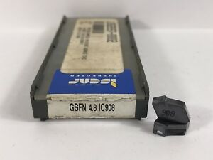 Iscar Gsfn 4 8 New Carbide Inserts Grade Ic908 10pcs