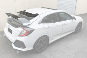 For 16 up Honda Civic Hatchback Type r Rear Wing With Mugen Style Roof Spoiler