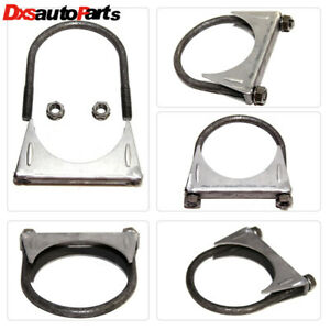 For Universal 3 5 3 1 2 O D Exhaust Hanger Muffler U Bolt Clamp Mild Steel