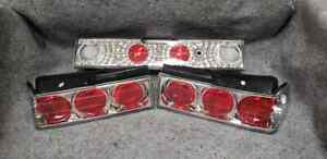 Honda Crx 88 91 Spyder Chrome Red Euro Tail Lights 3 Piece Jdm Pair New In Box
