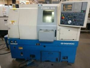 Daewoo Puma 6g Cnc Lathe Kitagawa Chuck Very Clean Under Power