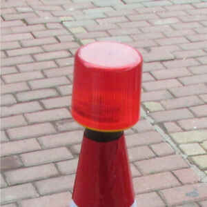Red Solar Power Warning Light Round Cone Signal Lamp For Construction Red