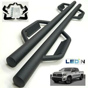 Side Step Nerf Bar For 07 18 Toyota Tundra Crewmax Extended Crew 3 Dropped Step