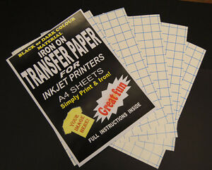 Inkjet Iron On T Shirt Transfer Paper For Dark Fabrics A4 A3 Size Sheets