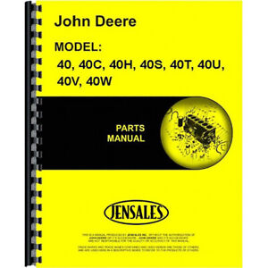New Parts Manual For John Deere 40s Tractor