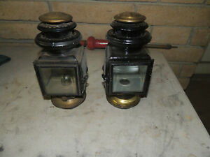 Model T Ford Jno Brown Model 110 Sidelamps Nice Lamps Set Straight