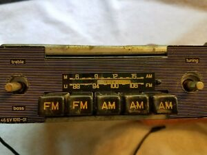 Becker Early 60 s Large Body 5 Button Radio Am fm With Afc Mercedes Benz Sl
