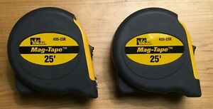 2 Rare Ideal 35 238 25 Mag tape Tape Measures