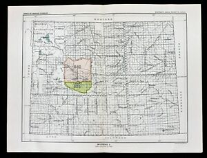 1899 Wyoming Map Cheyenne Yellowstone Native American Ceded Territories Original