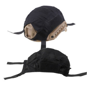 2 Pcs Army Tactical Series Gear FAST Camo Helmet Cover without Helmets Black $16.65