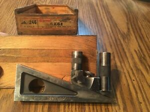 Early Vintage Starrett Planer Shaper Gage 246 With Dove Tail Box
