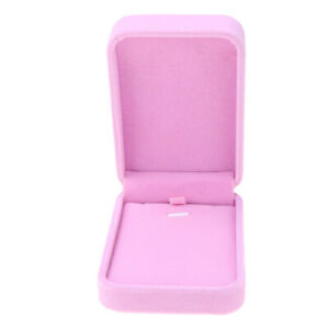 Pink Necklace Pendant Bracelet Display Gift Box Velvet