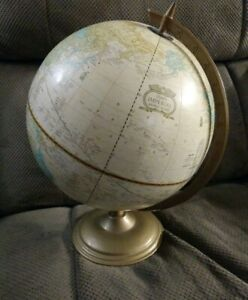 Vintage 1953 Crams Imperial World Desk Globe Map Please See Description