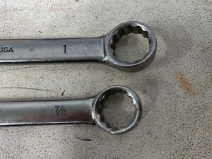 Bonney Combination Wrenches 1 And 7 8