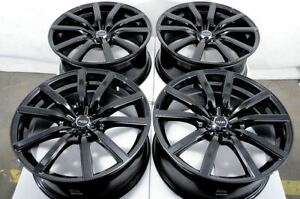 18 Black Wheels Fits Honda Civic Accord Crz Element Hrv Prelude Crv Forte Rims