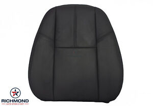 2012 2013 Chevy Tahoe Suburban Lt driver Side Lean Back Leather Seat Cover Black