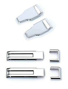 07 17 Jeep Wrangler Self adhesive Abs Chrome Covers For Tailgate Glass Hinges