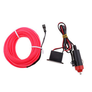 3 Meters Pink Neon Led Light El Wire Strip With 12v Dc Drive Inverter