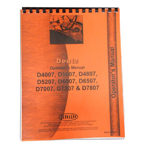 Deutz allis D5207 Tractor Operators Manual