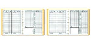 Dome 612 Bookkeeping Record Tan Vinyl Cover 128 Pages 8 1 2 X 11 Pages Pack