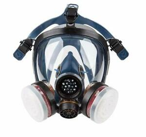 Organic Vapor Full Face Respirator Safety Mask N95 Activated Charcoal Air Filter