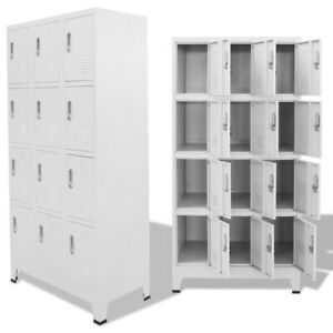 Steel Locker Cabinet Stand Unit With 1 2 3 4 12 Compartments School Office Boxes