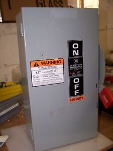 General Electric Thn3363 Non fused Safety Switch 600 Vac 100 Hp 3 Phase 100 Amp