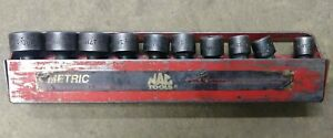Mac Tools 10pc 6pt Metric Impact Swivel Socket Set W Holder 10 19mm P N Xup6