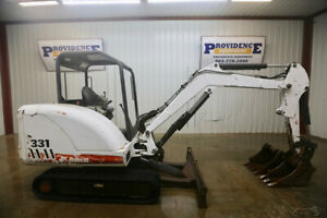 Bobcat 331 Track Excavator Open Rops 40hp Quick Attach 12 18 Buckets