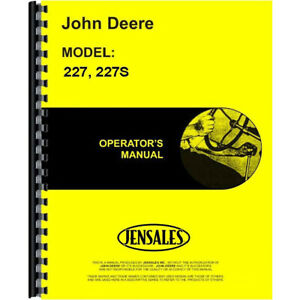 Operator s Manual For John Deere 227 Attachment corn Picker