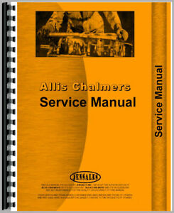 Service Manual For Allis Chalmers Crawler Models Hd16a W Std Trans