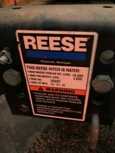 Reese Rails 16k Fifth wheel And Goose Neck Hitch Plate 375