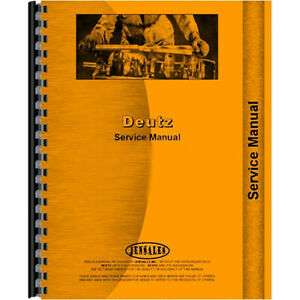 Deutz allis Dx7 10 Tractor Service Manual