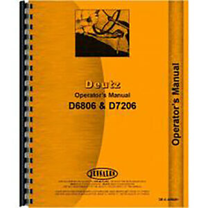 Operators Manual For Deutz allis D7206 Tractor