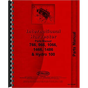 New Farmall 766 Tractor Chassis Parts Manual