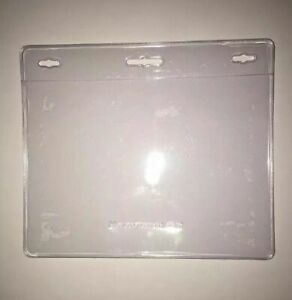 Id Card Holder Clear Plastic Badge Resealable Waterproof Business Case 1 Pack