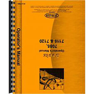 Operators Manual For Deutz allis 7110 Tractor diesel 2 And 4 Wheel Drive