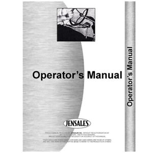 New International Harvester 706 Tractor 37237 Operators Manual