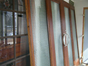 Vintage Mansion French Doors With 2 Sidelights 4 Piece Set Art Deco Style