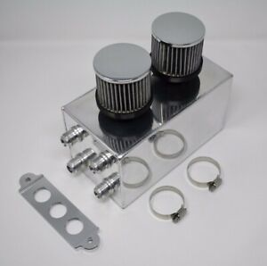 Pro Series Oil Catch Can For Honda Civic Acura Integra 4 Port 10an Silver