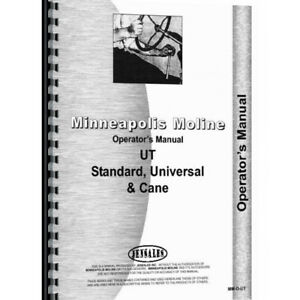 New Minneapolis Moline Ut Gas And Lp Operator s Manual