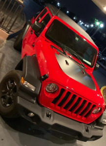 3m Hood Decal For Jeep Wrangler Jl black Brand New free Shipping